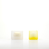 Pair of Contained Boxes - Clear Frit and Gold, Yellow Frit and White,