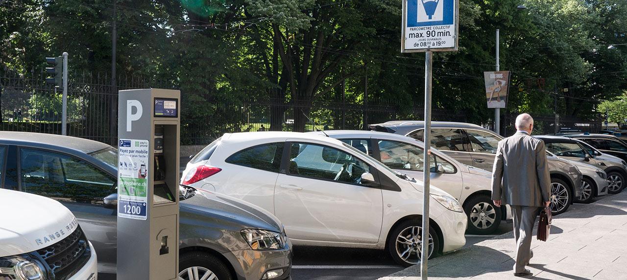 Stationnement et places de parking gen ve voitures et for Norme eclairage parking exterieur